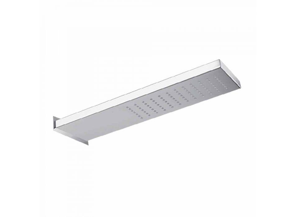 Cabezal de ducha de pared de acero inoxidable con lluvia Made in Italy - Net