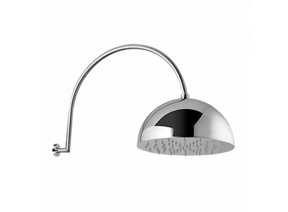 Cabezal de ducha de campana de acero con brazo arqueado Made in Italy - Auro