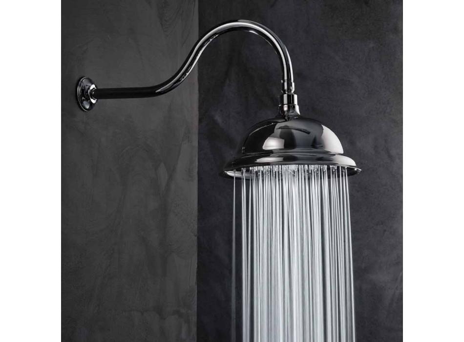 Cabezal de ducha anti-cal en acero y latón clásico Made in Italy - Mingo