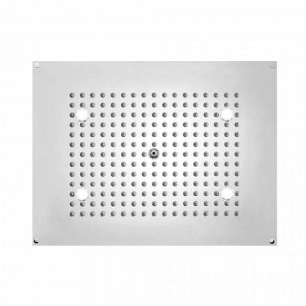 Bossini Rociador de ducha rectangular con 1 chorro y LED