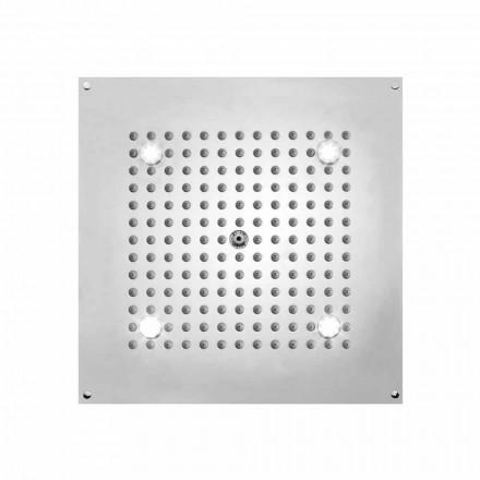 Bossini Rociador ducha cuadrado con 1 chorro y luces LED