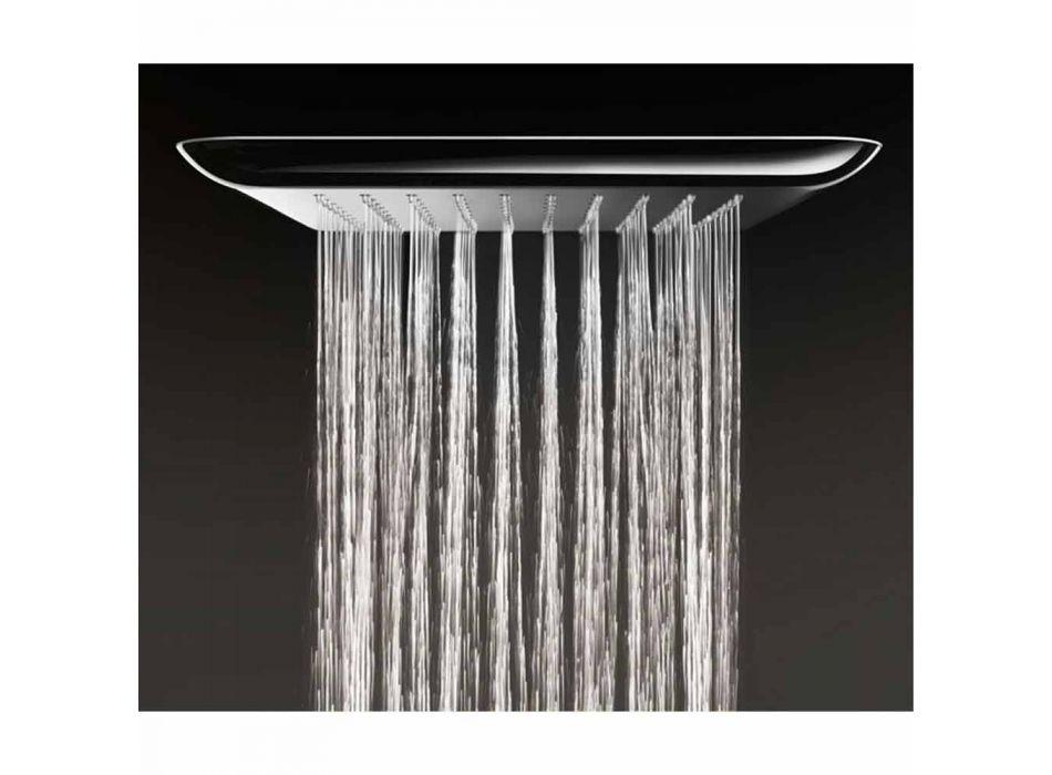 Cabezal de ducha de pared en acero antical Made in Italy - Cardellino