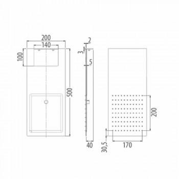 Cabezal de ducha de pared de acero con doble chorro Made in Italy - Cartesio