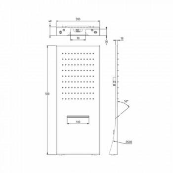 Cabezal de ducha de pared rectangular de acero inoxidable Made in Italy - Net