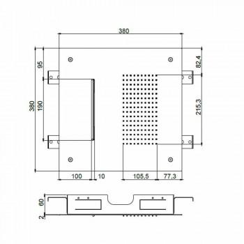 Cabezal de ducha de techo de acero con doble chorro Made in Italy - Quinto