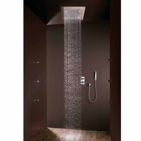 Cabezal de ducha de diseño moderno con chorro de lluvia y luces LED