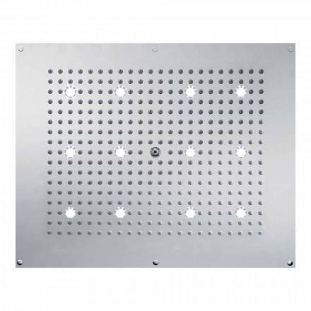 Bossini Rociador ducha de diseño con chorro de lluvia y luces LED