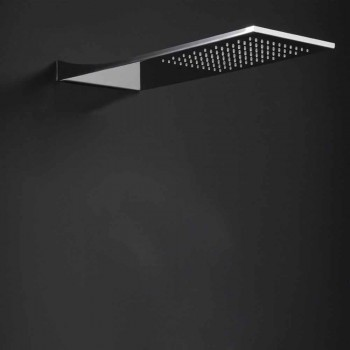 Cabezal de ducha de acero inoxidable con chorro de lluvia Made in Italy - Fiordo