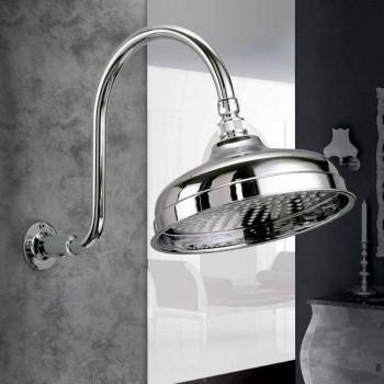 Cabezal de ducha de latón con brazo de arco clásico Made in Italy - Bisco