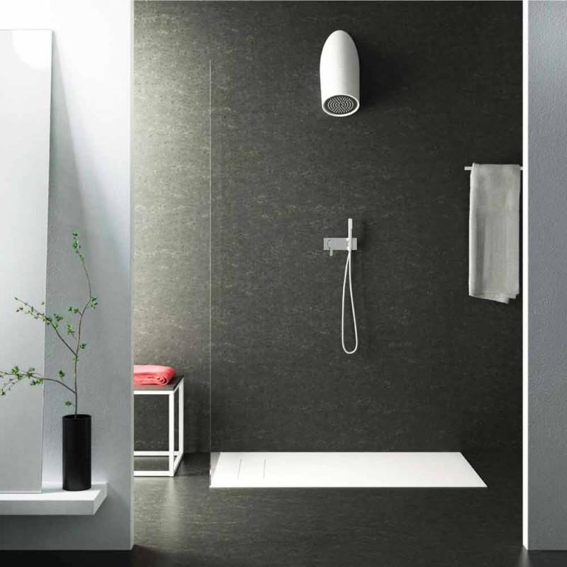 Cabezal de ducha de pared moderno en Luxolid hecho en Italia, Rubano