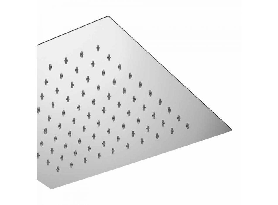 Cabezal de ducha de techo cuadrado en acero Made in Italy - Almidón