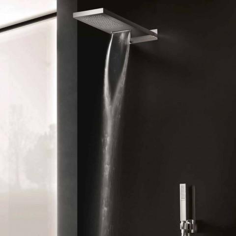 Cabezal de ducha de pared rectangular de acero inoxidable Made in Italy - Anito