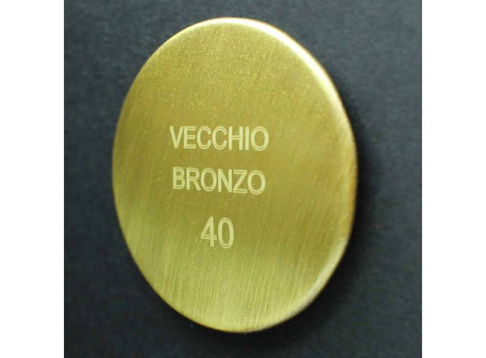 Cabezal de ducha de pared redondo en latón estilo clásico Made in Italy - Betto