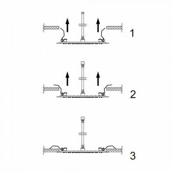 Cabezal de ducha de techo redondo en acero moderno Made in Italy - Damian