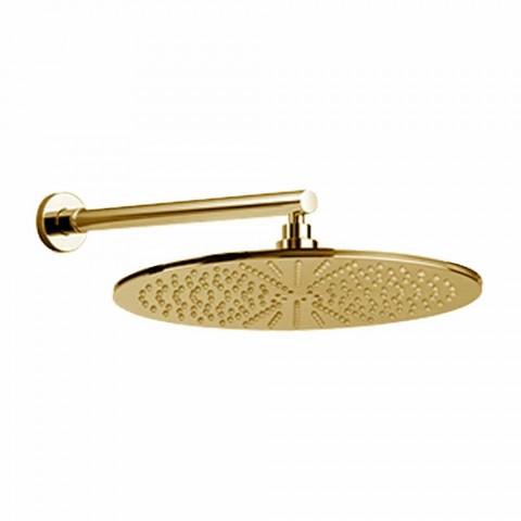 Cabezal de ducha redondo en acero inoxidable y latón Made in Italy - Aurelio