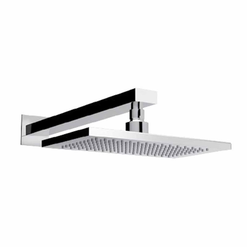 Cabezal de ducha de chorro simple de acero con brazo de ducha de latón Made in Italy - Dardo