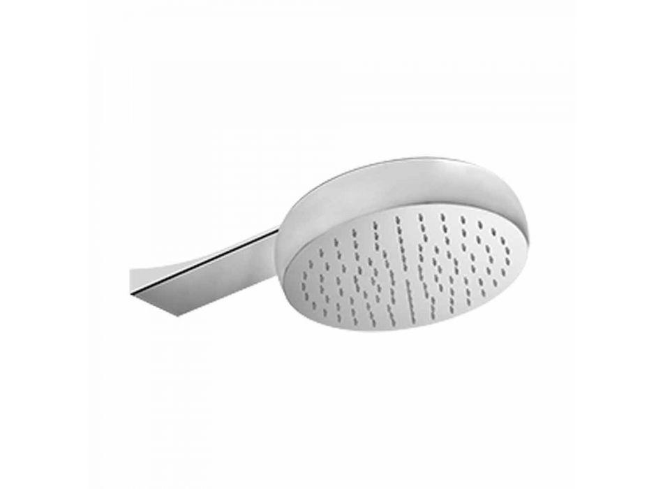 Cabezal de ducha de pared redonda en acero antical Made in Italy - Tone