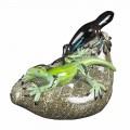 Adorno en forma de lagarto en vidrio coloreado Made in Italy - Certola