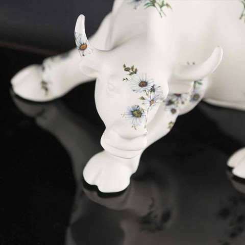 Adorno de cerámica hecho a mano en forma de toro Made in Italy - Bulino