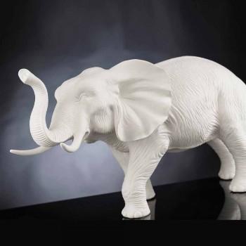 Adorno de cerámica en forma de elefante hecho a mano Made in Italy - Fante