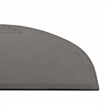 Almohadilla de escritorio de cuero regenerado con costuras de detención de pluma Made in Italy - Medea