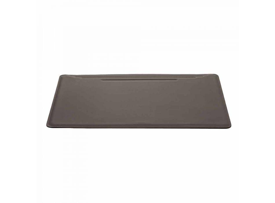Maxi Pad de escritorio en cuero regenerado con costuras Pen Stop Made in Italy - Ebe
