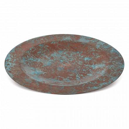Mantel Individual Cobre Verde o Marrón Estañado a Mano 6 Piezas 28 cm - Rocho