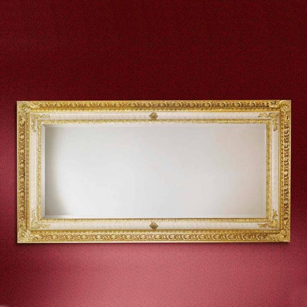 Espejo de pared de madera rectangular, producido en Italia, Raffaello