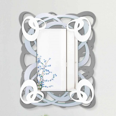Espejo de pared rectangular de color moderno en madera - Amalga