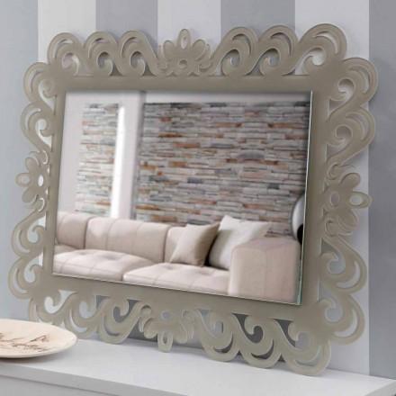 Espejo de pared rectangular de diseño moderno en plexiglás Tortora - Selly