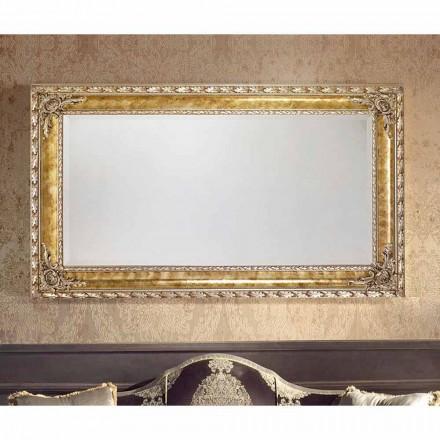 Espejo de pared rectangular con líneas modernas, hecho en Italia, Umberto