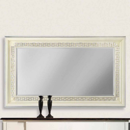 Espejo de pared de madera ayous, producido completamente en Italia, Maicol