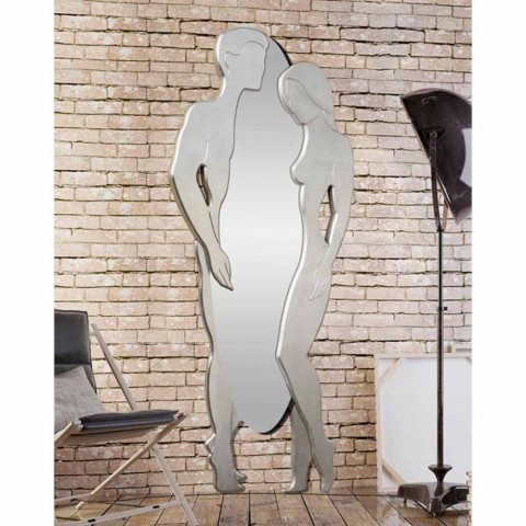 espejo de pared de MDF diseño moderno del hombre y de la mujer de la mano en forma de