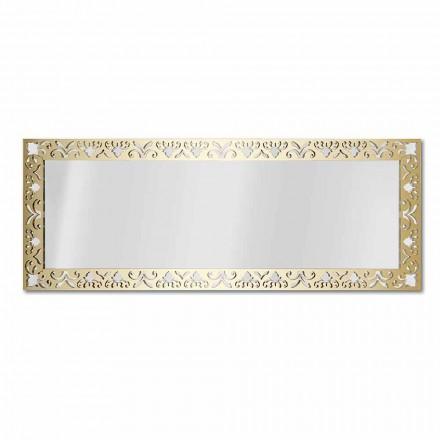 Espejo de pared en plexiglás dorado, plateado o bronce con marco - Nectar