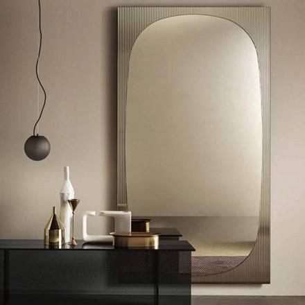 Espejo de Pared Moderno con Espejo Color Bronce Hecho en Italia - Bandolero