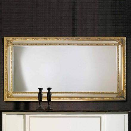 Espejo de pared moderno en madera ayous, producido en Italia, Armando