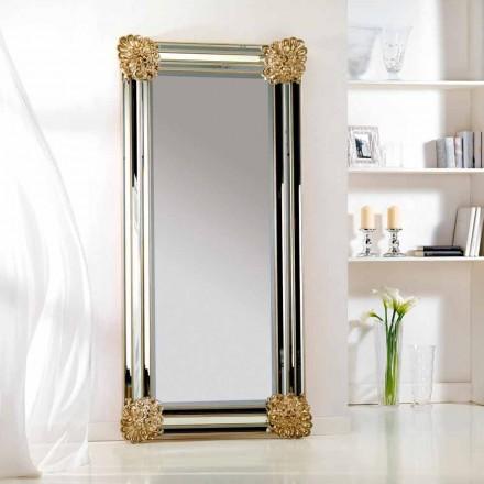 suelo de espejo / diseño de la pared, el marco de madera Luti, 96x196 cm