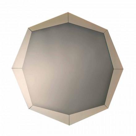 Espejo de diseño con acabado de cristal espejado Made in Italy - Bolina