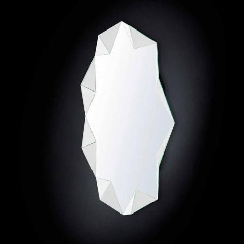 Espejo de pared moderna de diseño en tres dimensiones del diamante