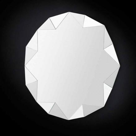 Espejo moderno de pared con diseño tridimensional Diamond