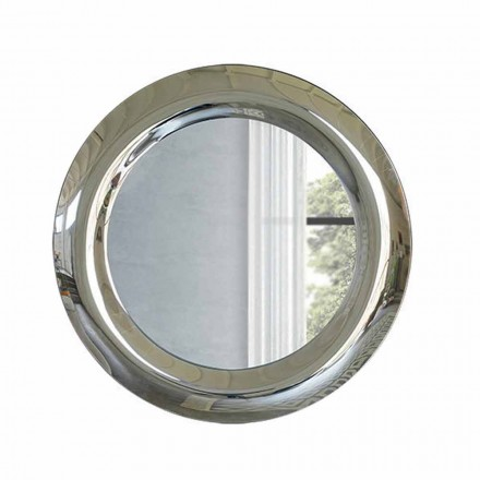 Espejo de pared grande con acabado de cristal Made in Italy - Stilla