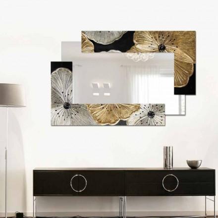 Espejo de pared Petunia Oro Scomposta Piccola