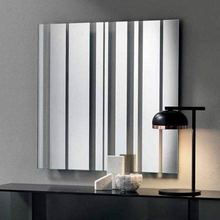Espejo de Pared Cuadrado de Diseño Moderno Hecho en Italia - Coriandolo