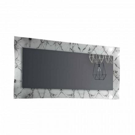 Espejo de diseño rectangular con marco de vidrio Made in Italy - Eclisse