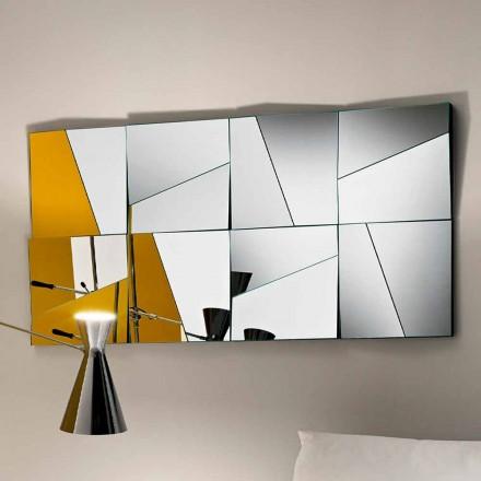 Espejo de Pared Modular con Espejos Còncavos y Convexos Hecho en Italia-Allegria