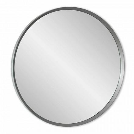 Espejo de pared redondo con marco lacado de elegante diseño moderno - Odosso