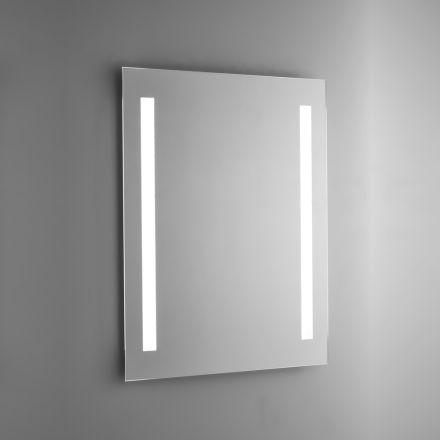 Espejo de baño de alambre pulido con retroiluminación LED Made in Italy - Tony