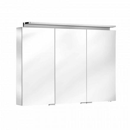 Espejo de baño con mueble de pared de 3 puertas con estantes internos - Bramo