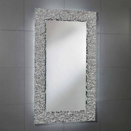 Espejo con marco de decoración en vidrio moderno diseño, Cecilia
