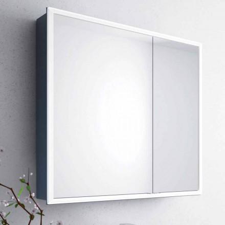 espejo de pared 2 puertas de los contenedores modernos, iluminación LED, Adele